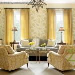 Hình ảnh xây dựng nội thất nhà phố cao cấp có tông  màu vàng chủ đạo